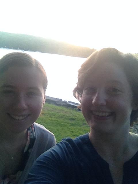 Sunset lake selfie (Morgan and me)